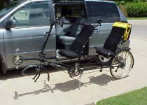 Long recumbent tandems fit on BT-84